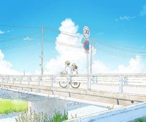 blue sky, anime couple, and itukaki image