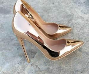 gold, lady, and metallic image