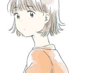 anime girl, orange, and short hair image