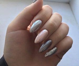 grey, nails, and pink image