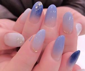 nails and blue nail art image