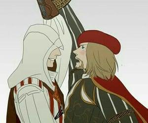 Assassins Creed, Leonardo da Vinci, and ezio auditore image