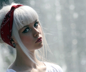 girl, rockabilly, and white hair image