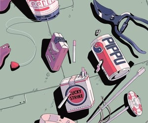 aesthetic, anime, and cigarettes image