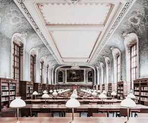 architecture, france, and library image