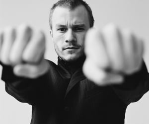 heath ledger, black and white, and actor image