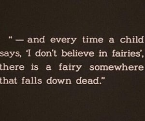 fairy, quotes, and peter pan image
