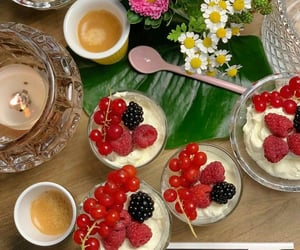 berries, coffee, and dessert image
