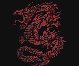 asian, dragon, and background image
