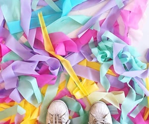 colorful, colors, and ribbon image