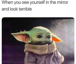 meme, star wars, and baby yoda image