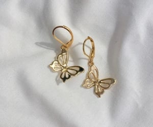 butterfly, earrings, and fashion image