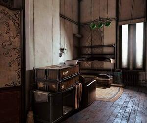 bedroom, beige, and cot image