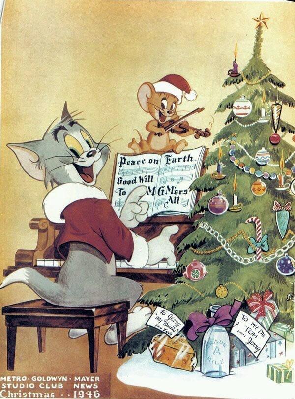 christmas and tom and jerry image