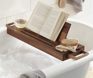 book, bath, and photography image