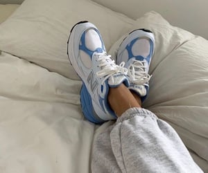 shoes, sneakers, and blue image