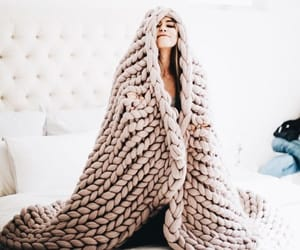 blanket, girl, and cozy image