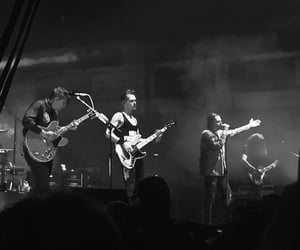 band, black and white, and concert image