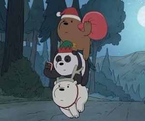 christmas, cartoon, and ice bear image
