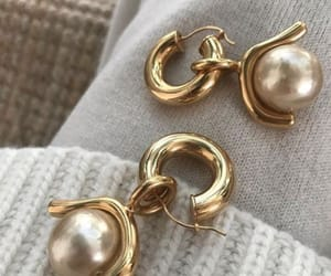 earrings, fashion, and pearls image