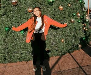 christmas, christmas tree, and hairstyle image