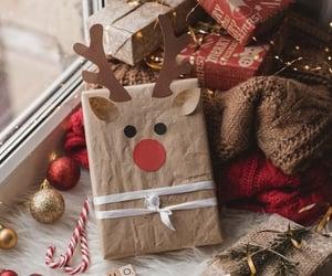 christmas, reindeer, and aesthetic image