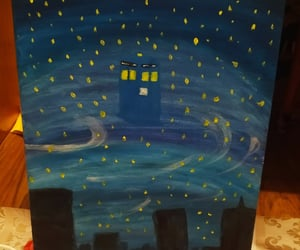 blue, doctor who, and painting image
