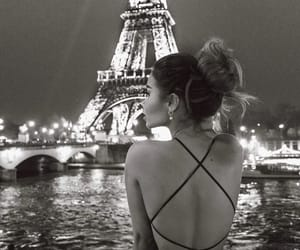 girl, paris, and black and white image