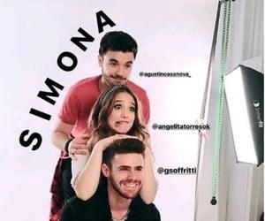 simona, agustín casanova, and novela image