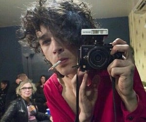 the 1975, matty healy, and cigarette image