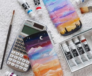 art, calculator, and fashion image