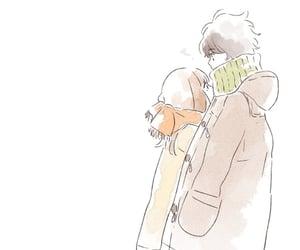 cold, hug, and winter image