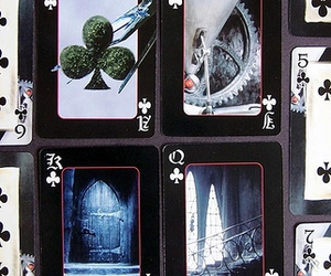 cards, edward scissorhands, and playing cards image