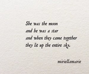 life, moon, and quote image