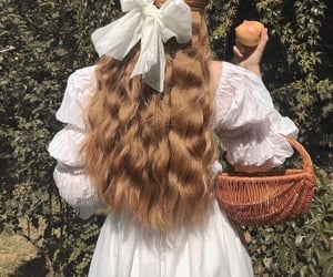 hair, vintage, and nature image