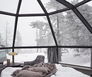 winter, snow, and cozy image