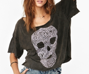 black tee, graphic tee, and nasty gal image