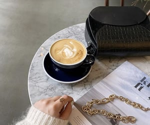 chic, coffee, and fashion image