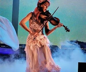 performance, pink dress, and lindsey stirling image