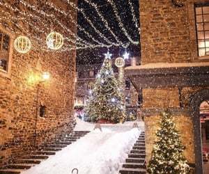 christmas lights, merry christmas, and winter image