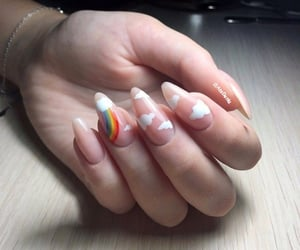 clouds, nail art, and nails image