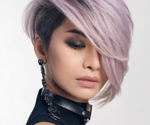 hair, lilac, and short hair image
