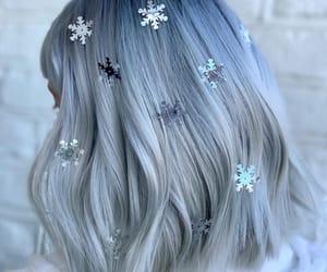 grey hair, platinum hair, and silver hair image