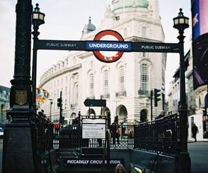 city, london, and underground image