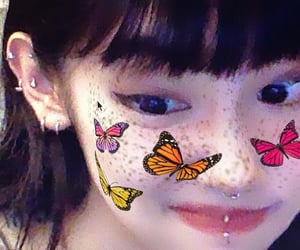 asian, freckles, and ulzzang image