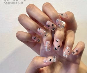 nails, korean nails, and manicure image