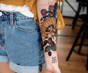 flower, armtattoo, and flowertattoo image