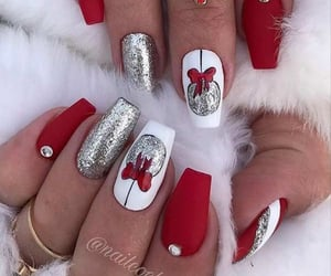 christmas, nails, and red image