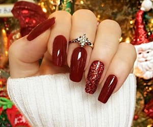christmas tree, nails, and christmas spirit image