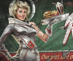 food, girl, and diner image